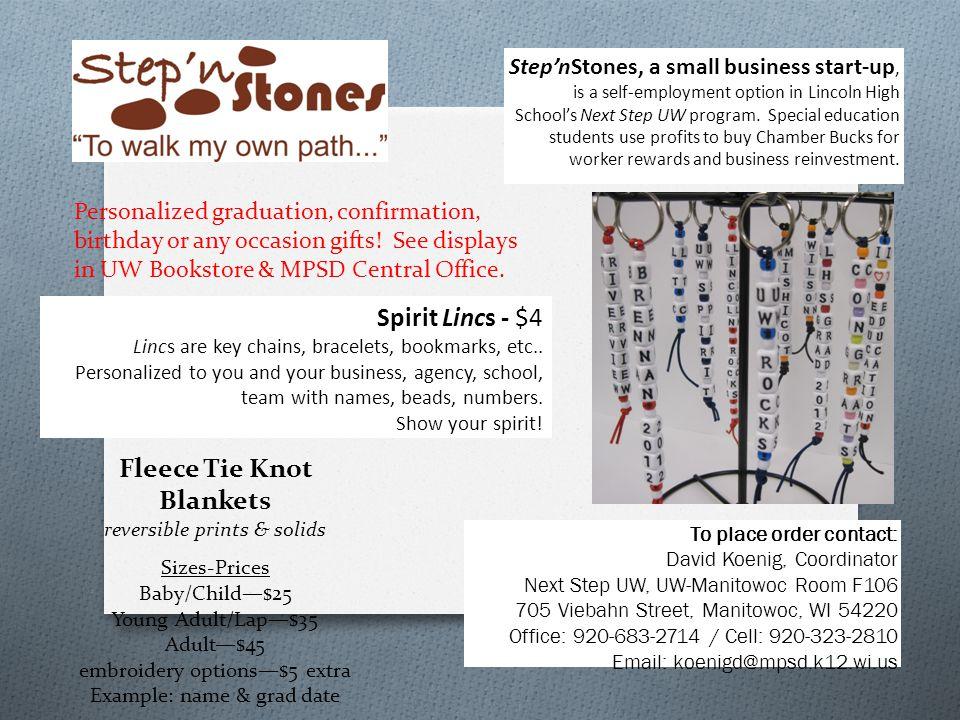 Spirit Lincs - $4 Lincs are key chains, bracelets, bookmarks, etc..