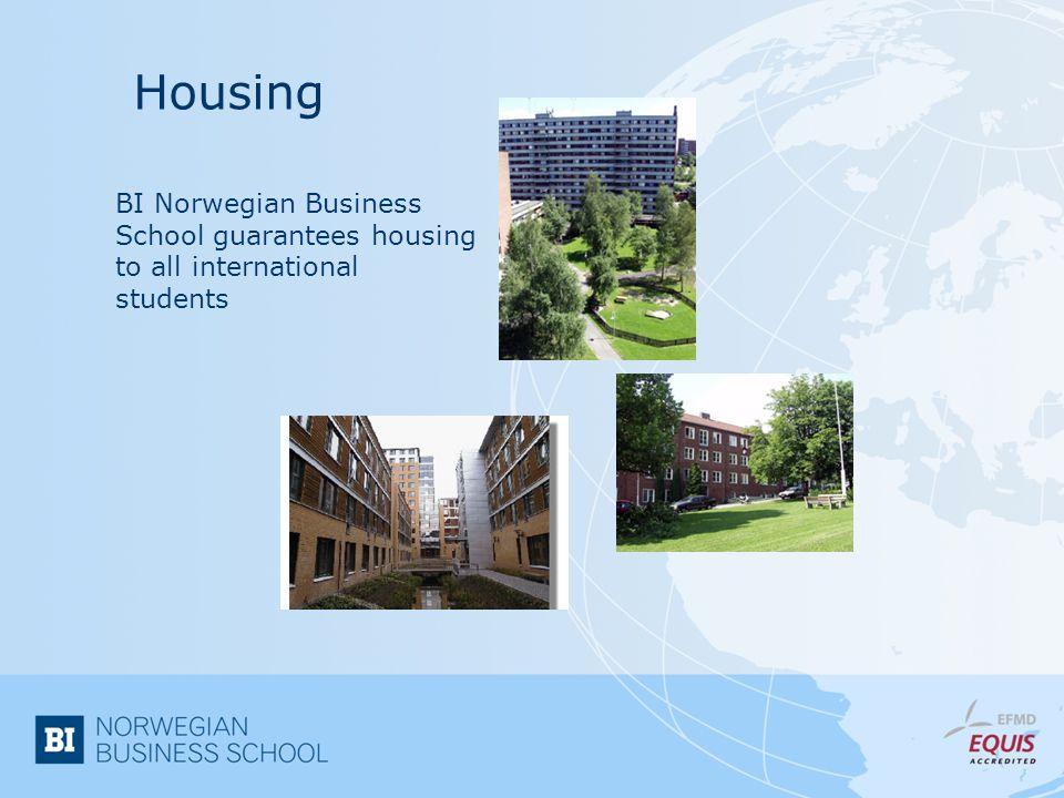 Housing BI Norwegian Business School guarantees housing to all international students