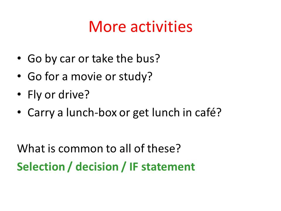 Even more activities Eat cookies from a box Answer an exam that has several questions Get a list of items at the grocery store Moving all items from one room to another What is common to all of these.
