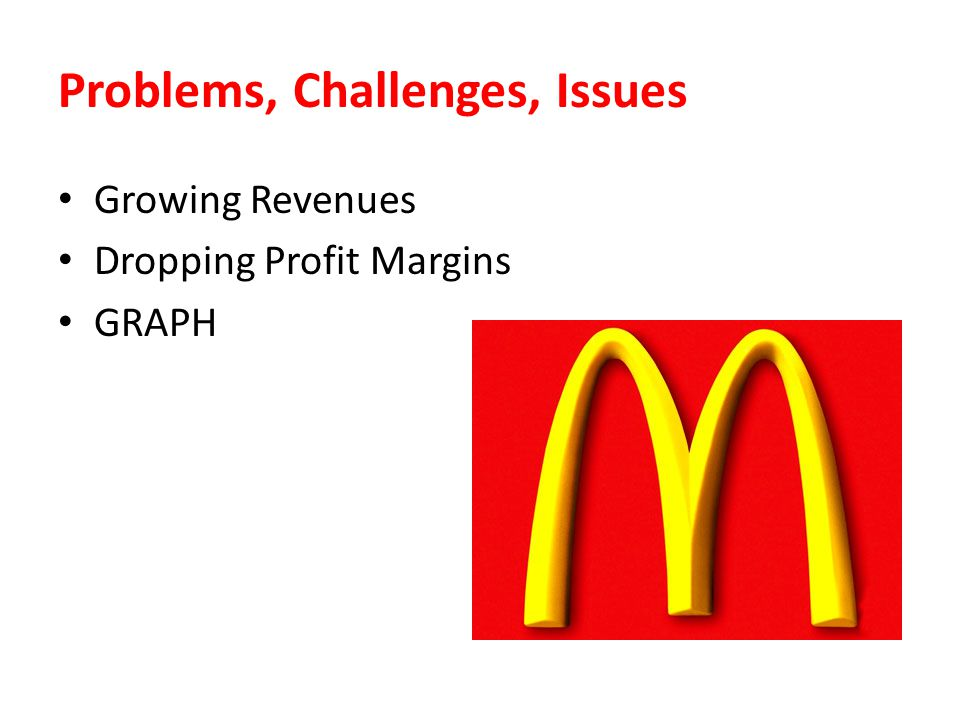 Problems, Challenges, Issues Growing Revenues Dropping Profit Margins GRAPH