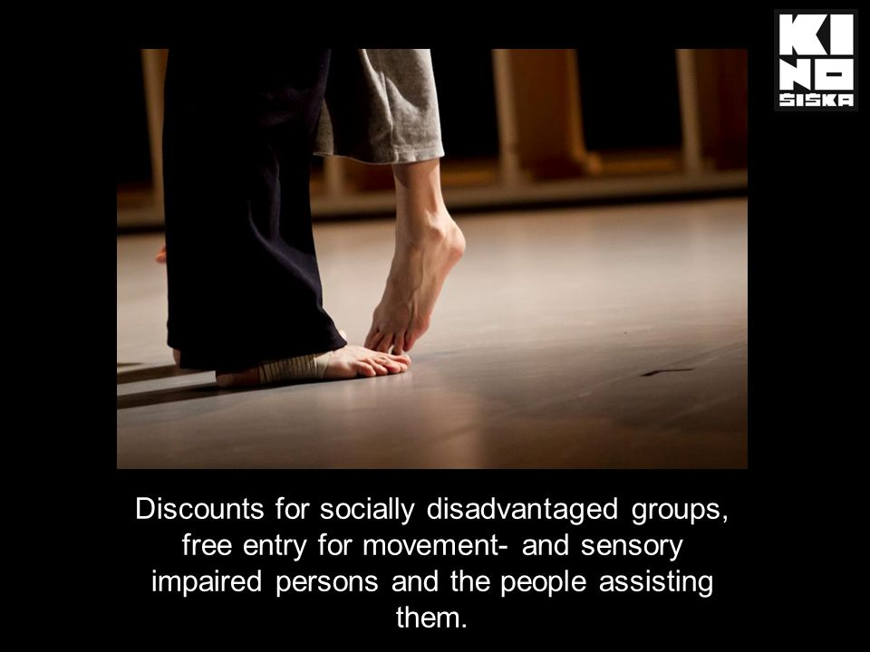Discounts for socially disadvantaged groups, free entry for movement- and sensory impaired persons and the people assisting them.
