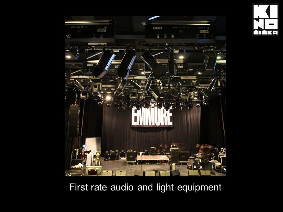 First rate audio and light equipment