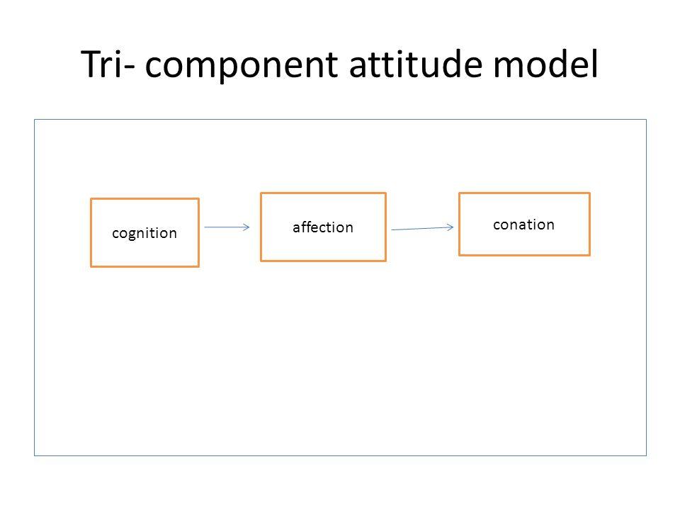 Tri- component attitude model cognition affection conation