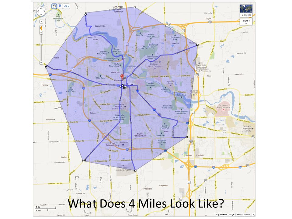 What Does 4 Miles Look Like?