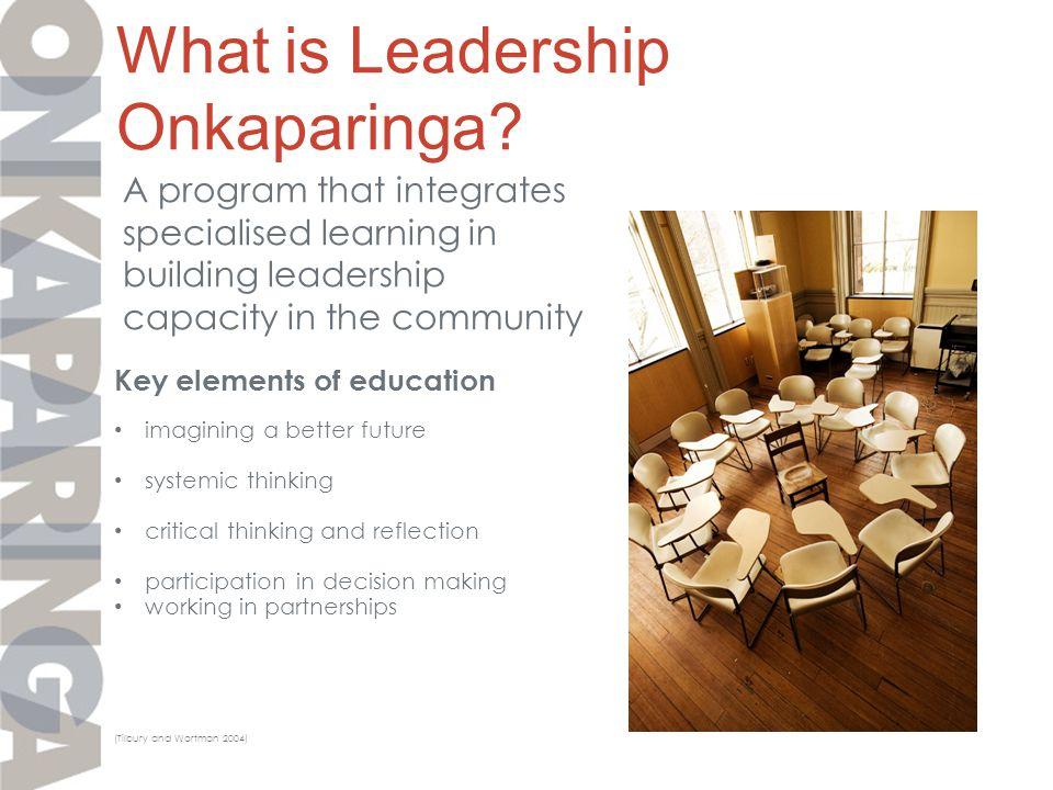 What is Leadership Onkaparinga.