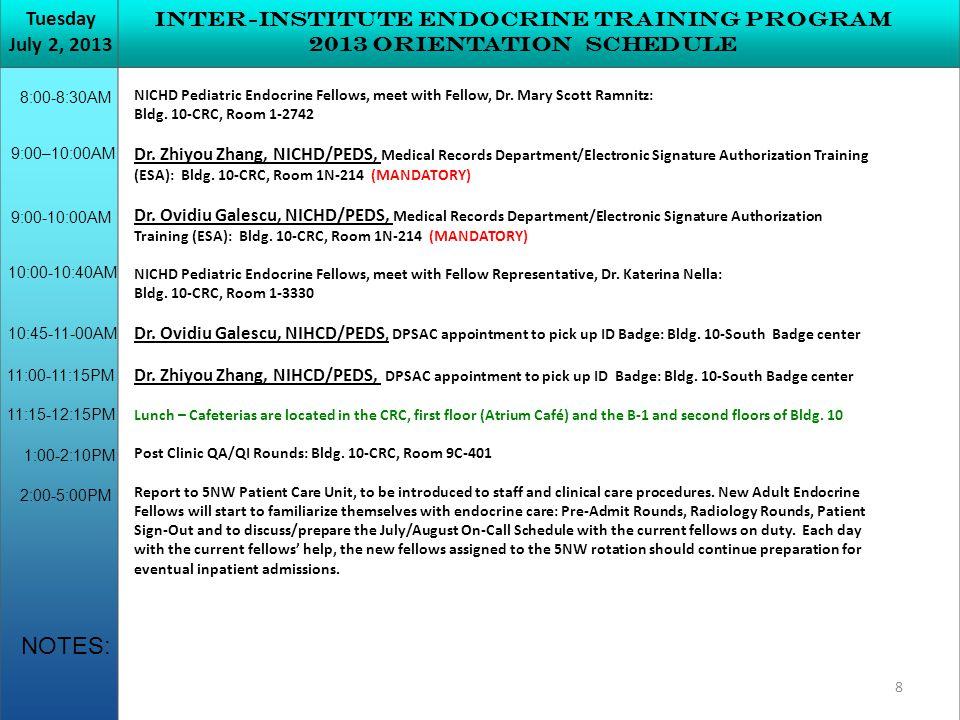 NICHD Pediatric Endocrine Fellows, meet with Fellow, Dr.