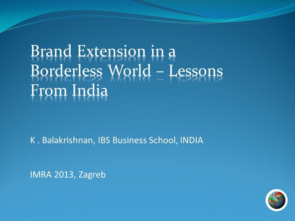 K. Balakrishnan, IBS Business School, INDIA IMRA 2013, Zagreb