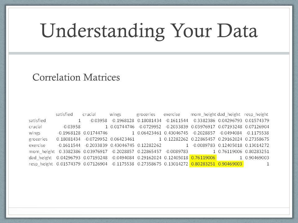Understanding Your Data Correlation Matrices