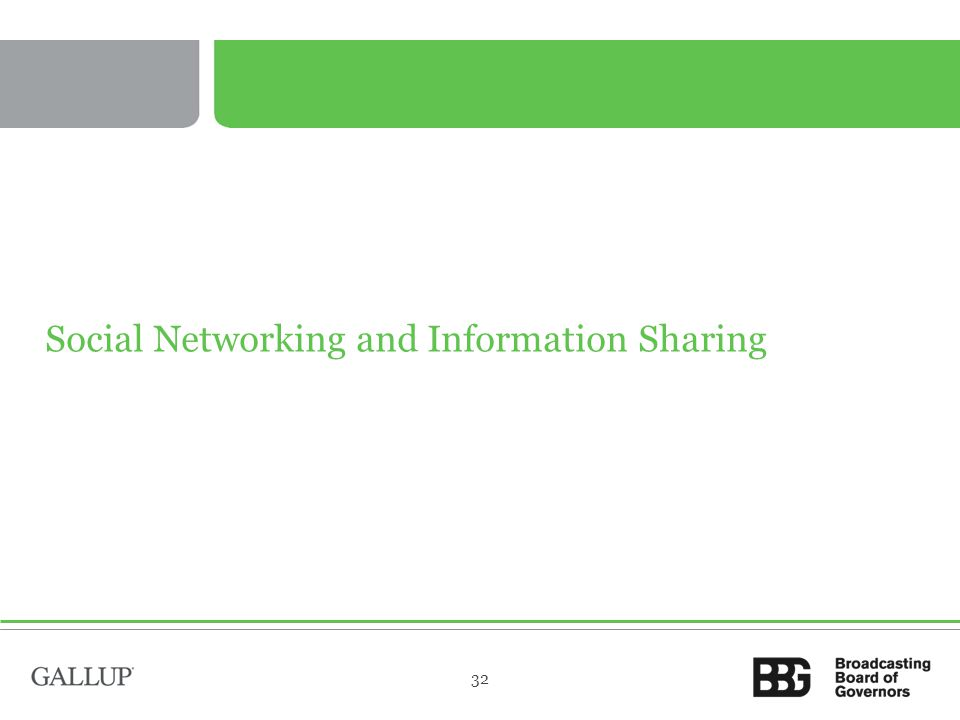 Social Networking and Information Sharing 32