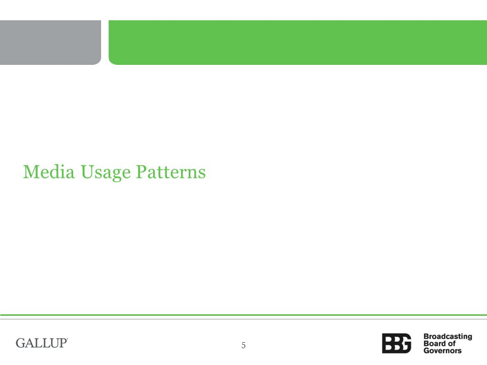 Media Usage Patterns 5