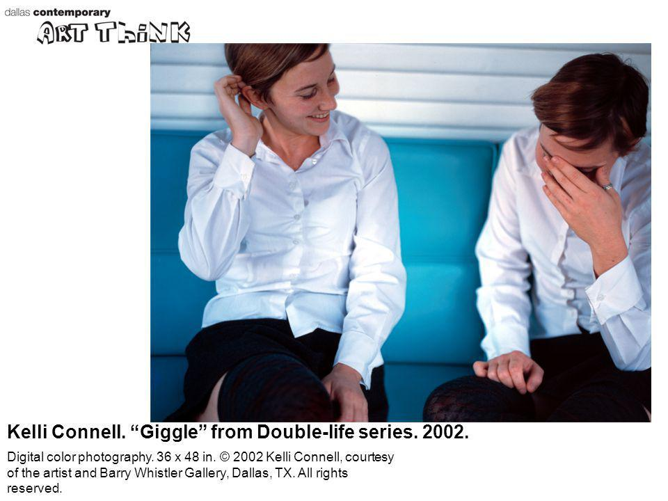 Kelli Connell. Giggle from Double-life series. 2002. Digital color photography. 36 x 48 in. © 2002 Kelli Connell, courtesy of the artist and Barry Whi