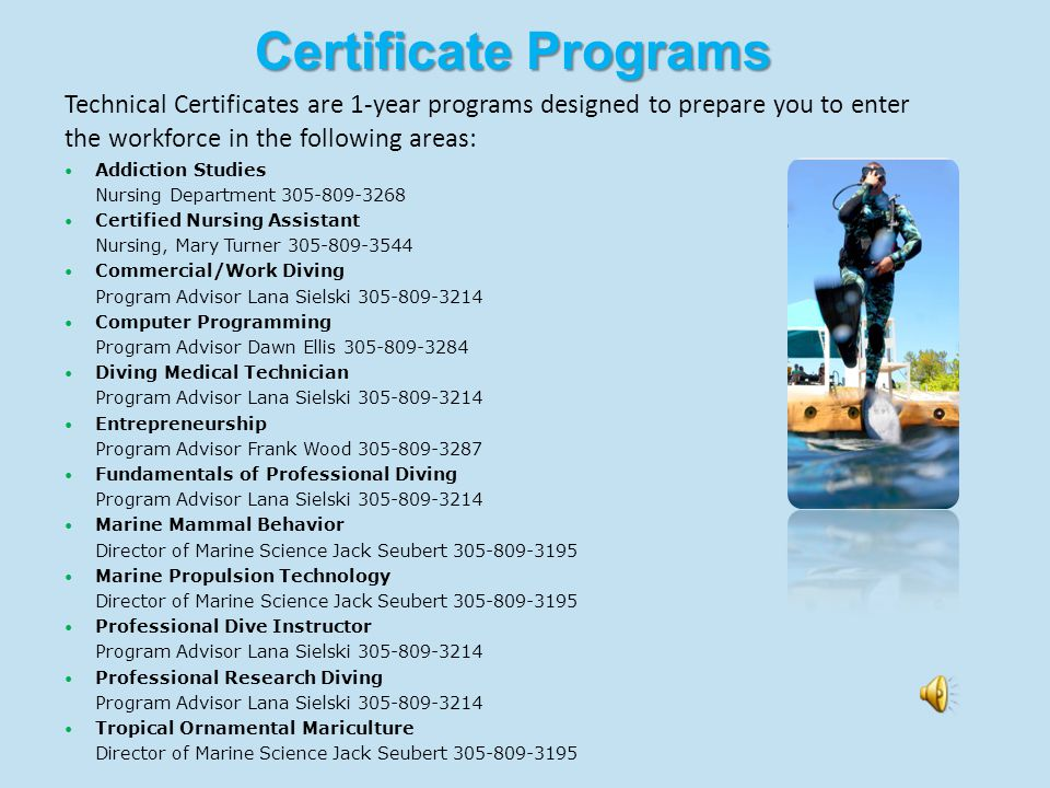 Advanced Technical Diploma Emergency Medical Services EMS Coordinator Barbara Zalewski 305-809-3244 or Nursing Department 305-809-3268 Advanced Technical Diplomas (ATD) is a 1-year program designed to prepare you to enter the workforce in the following areas: