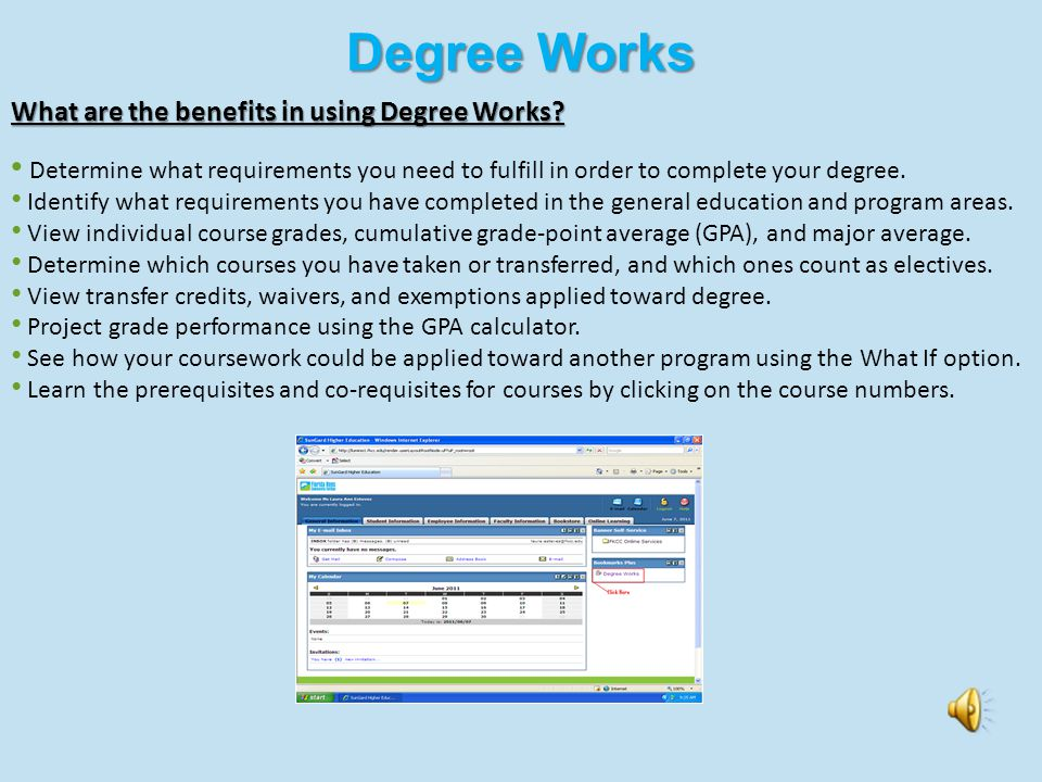 myFKCC Student Services What are the benefits in using myFKCC Student Services? Check Student Email Review Degree Works Audit Log-on to Online Courses