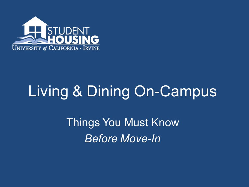 Hospitality & Dining Meal Plans Mandatory - Mesa Court & Middle Earth 100 Block All-Access Voluntary (Anteater) Meal Plans Campus Village Arroyo Vista Camino del Sol Off-campus residents