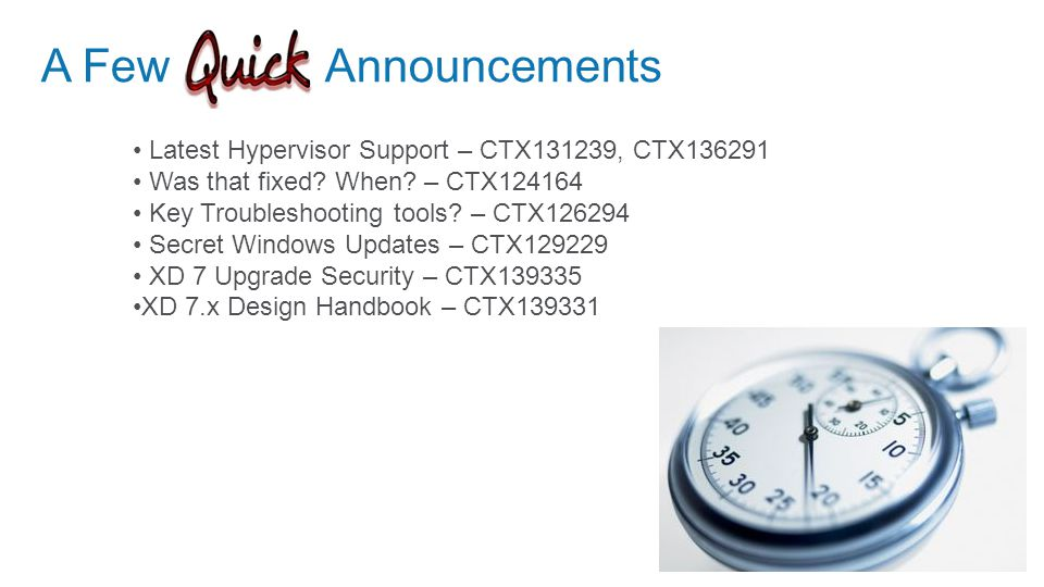 © 2012 Citrix Systems New Features and Changes For XenApp Customers: XenDesktop 7 Apps Edition Combined Infrastructure – FMA Architecture Windows Server 2012 Support System Center 2012 SP1 Support Machine Creation Services for Windows Server OS App-V 5 Integration XenApp Steaming is available for Windows 7 and Server 2008R2 only XenApp Streaming is accomplished by publishing RADERUN command in console Profile Management in Citrix Policies Universal Printer Server Integration Universal Printer Server Windows 2008 R2 SP1 Print Servers Windows 2008 32bit Print Servers App Edition Server-based Apps and Desktops