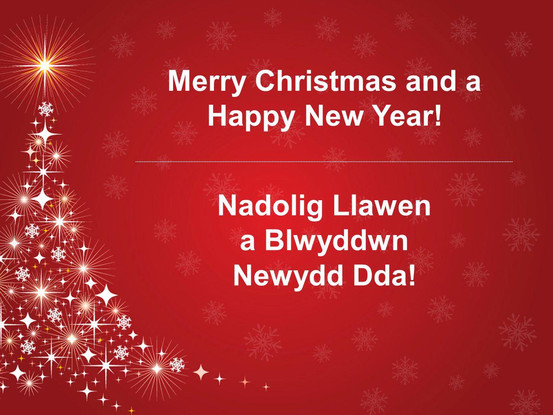 Merry Christmas and a Happy New Year! Nadolig Llawen a Blwyddwn Newydd Dda!