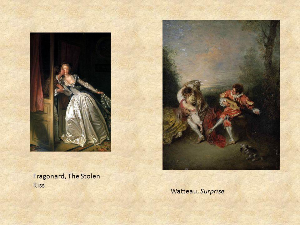 Fragonard, The Stolen Kiss Watteau, Surprise