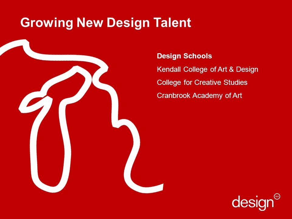 Growing New Design Talent Design Schools Kendall College of Art & Design College for Creative Studies Cranbrook Academy of Art