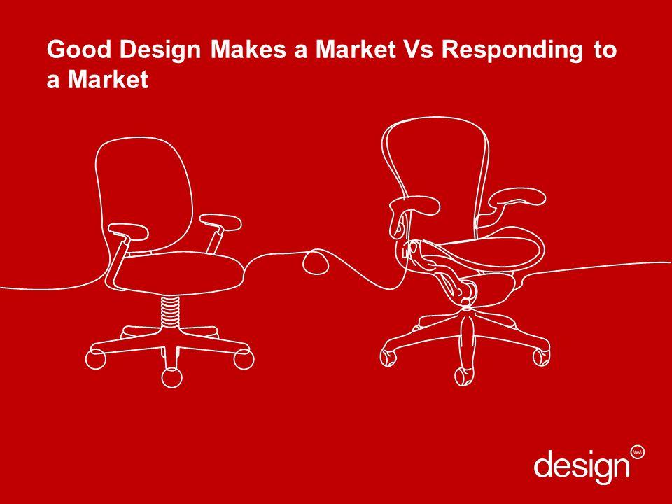 Good Design Makes a Market Vs Responding to a Market