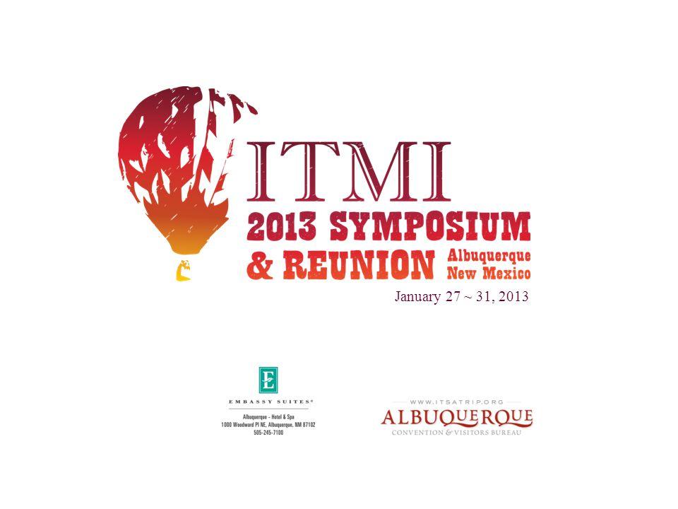 January 27 ~ 31, 2013