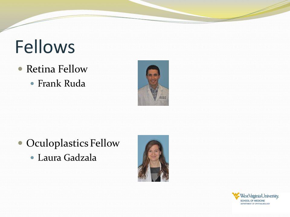 Fellows Retina Fellow Frank Ruda Oculoplastics Fellow Laura Gadzala