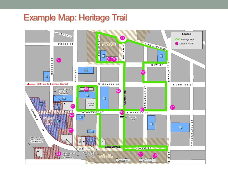 Example Map: Heritage Trail