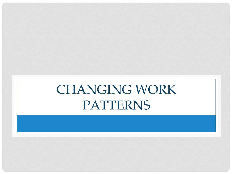 CHANGING WORK PATTERNS