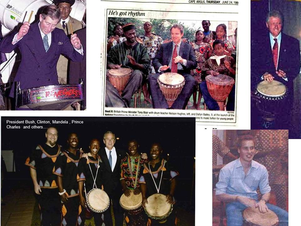 President Bush, Clinton, Mandela, Prince Charles and others….