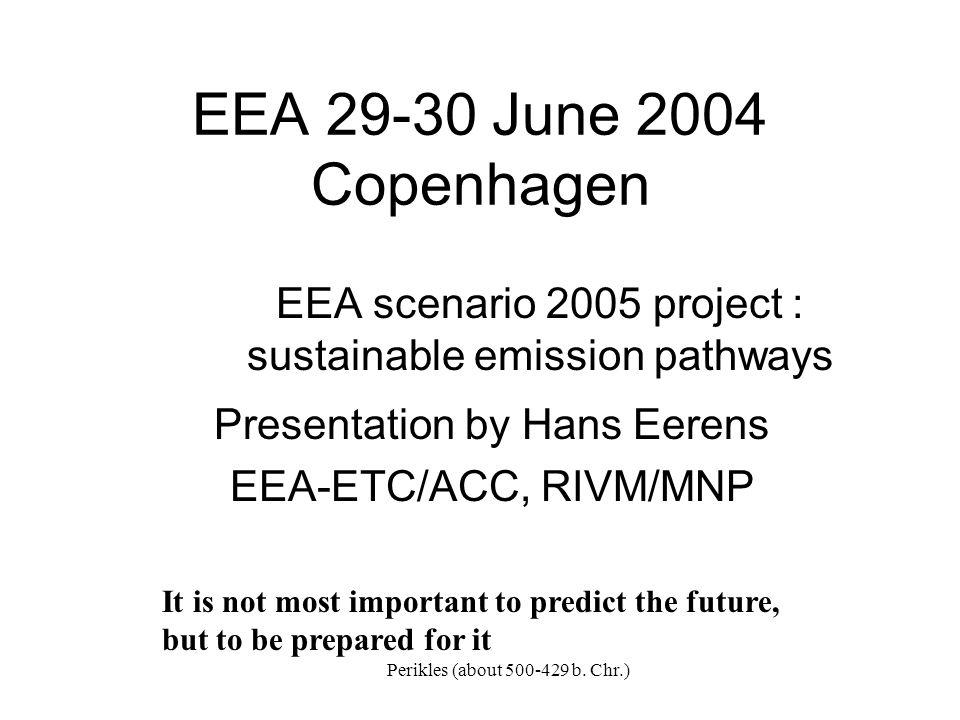 LREM emissions compared to SRES scenarios