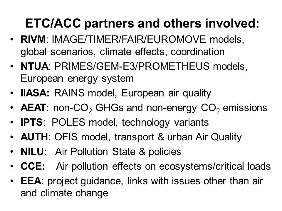 EEA June 2004 Copenhagen EEA scenario 2005 project : sustainable emission pathways Presentation by Hans Eerens EEA-ETC/ACC, RIVM/MNP It is not most important to predict the future, but to be prepared for it Perikles (about b.