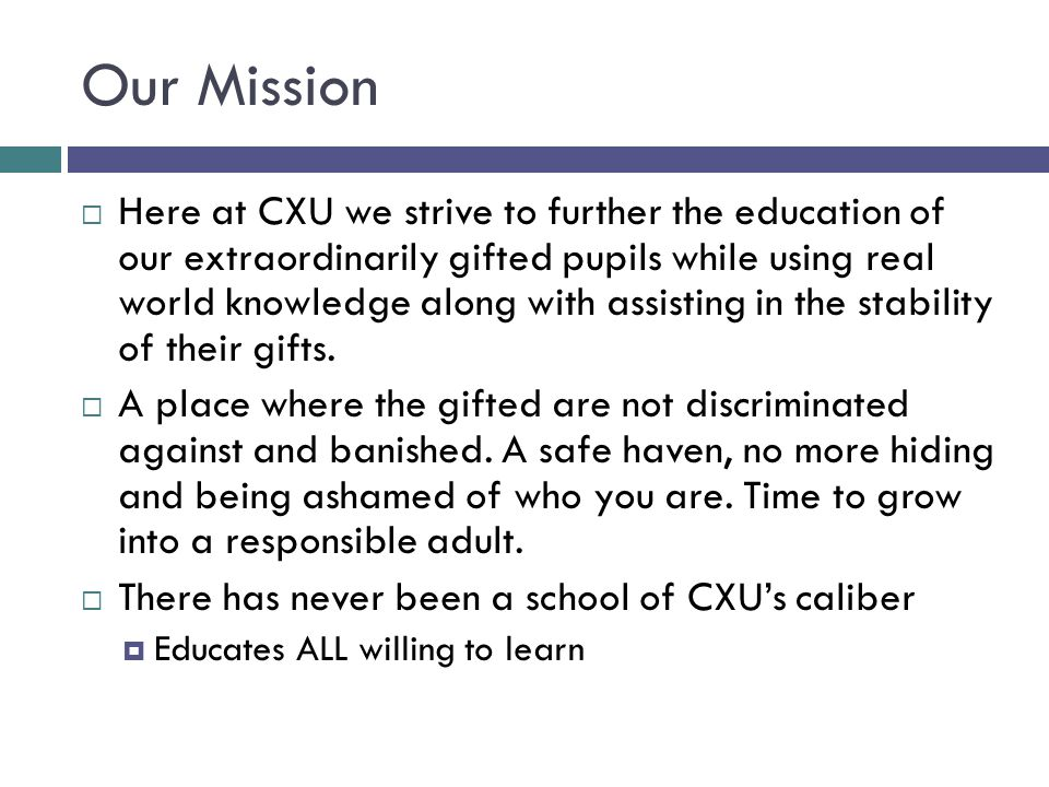 About CXU Named after Charles Xavier a great activist for our cause in building social acceptable leaders.