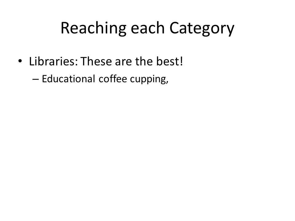 Reaching each Category Libraries: These are the best! – Educational coffee cupping,