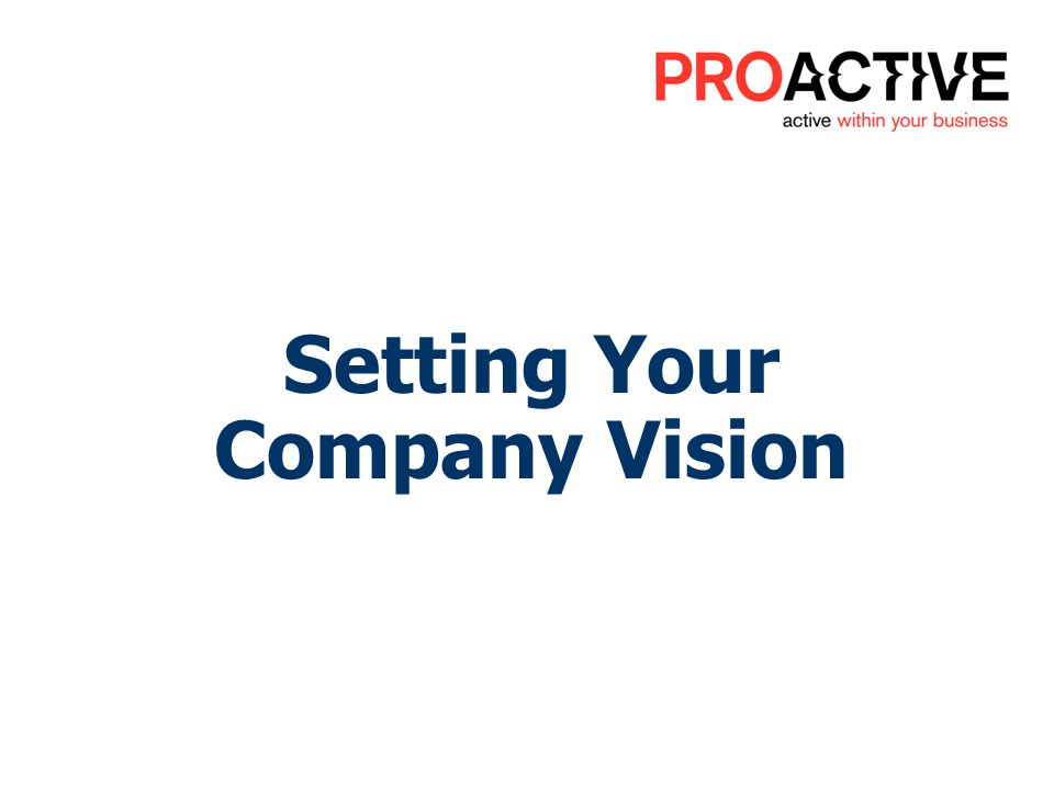 Setting Your Company Vision