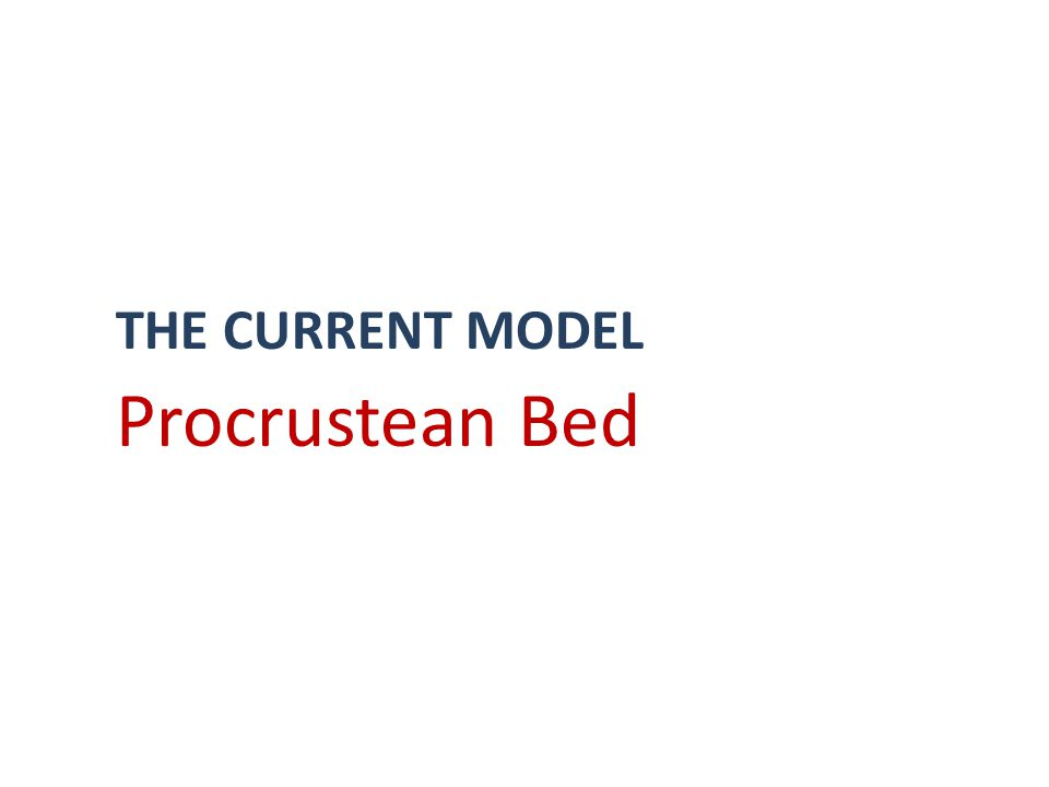 THE CURRENT MODEL Procrustean Bed