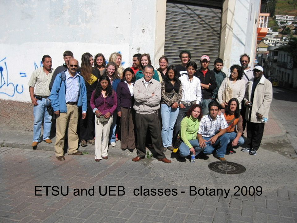 ETSU and UEB classes - Botany 2009
