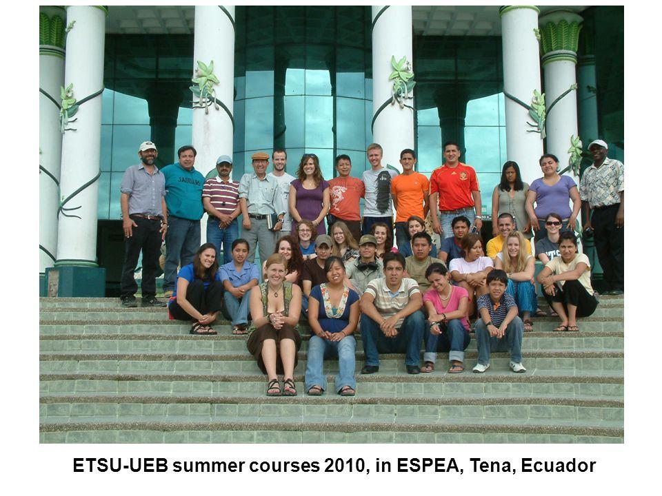 ETSU-UEB summer courses 2010, in ESPEA, Tena, Ecuador