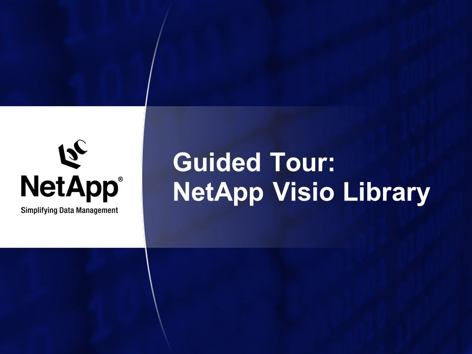 Guided Tour: NetApp Visio Library