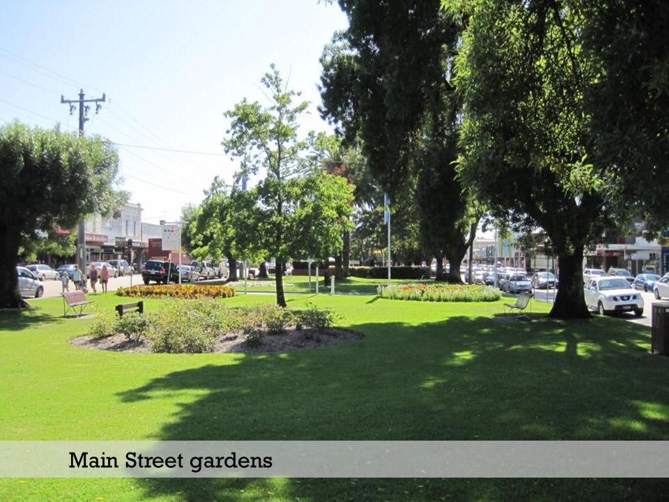 Main Street gardens