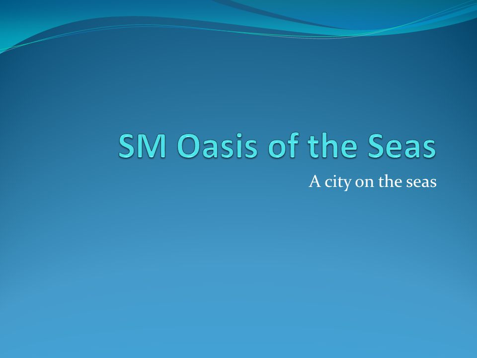 A city on the seas