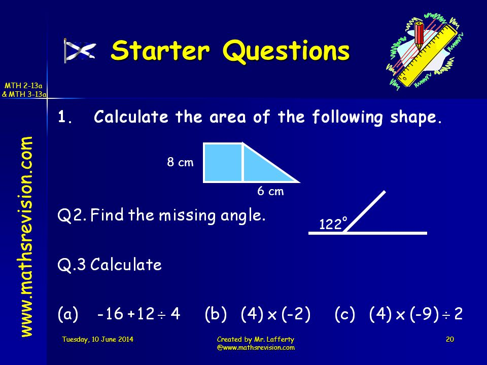 www.mathsrevision.com Tuesday, 10 June 2014Tuesday, 10 June 2014Tuesday, 10 June 2014Tuesday, 10 June 2014Created by Mr.