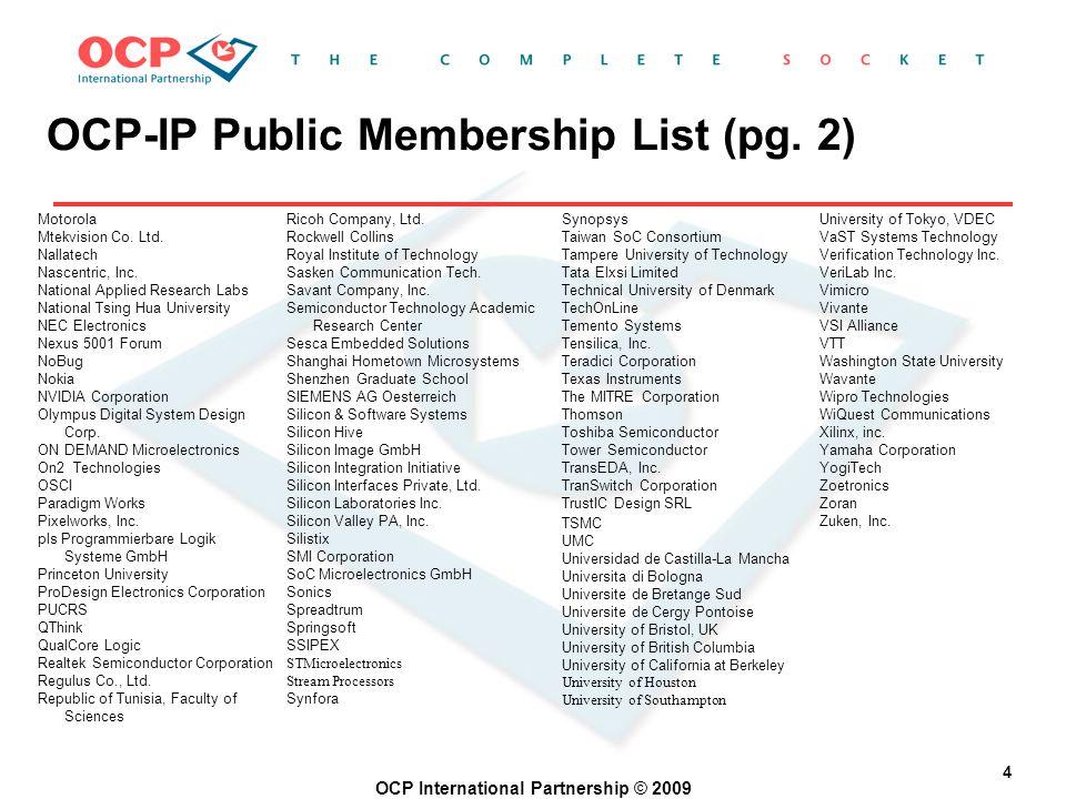 OCP International Partnership © 2009 4 Motorola Mtekvision Co.