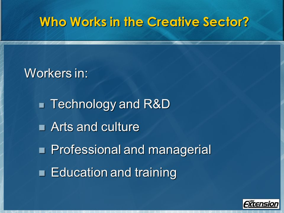 1.Create Jobs: Nurture artists and small cultural organizations as businesses and microenterprises to increase employment Form partnerships between community development corporations and artists and arts groups Form partnerships between community development corporations and artists and arts groups Develop financial products and incentives to encourage investments in artist live/work spaces and community arts groups Develop financial products and incentives to encourage investments in artist live/work spaces and community arts groups Establish an arts incubator to provide space, management assistance, technology, and access to funding opportunities Establish an arts incubator to provide space, management assistance, technology, and access to funding opportunities Develop cultural activities to show off artwork and attract visitors Develop cultural activities to show off artwork and attract visitors Develop a community of arts organizations representative of the areas cultural diversity Develop a community of arts organizations representative of the areas cultural diversity Source: Borrup, Tom, with Partners for Livable Communities.
