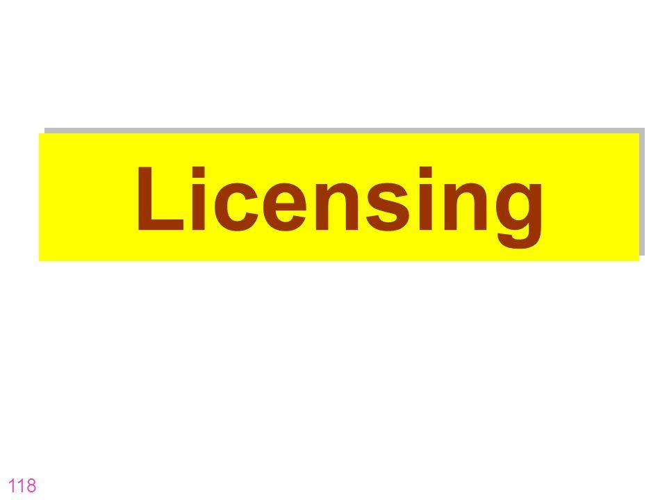 118 Licensing