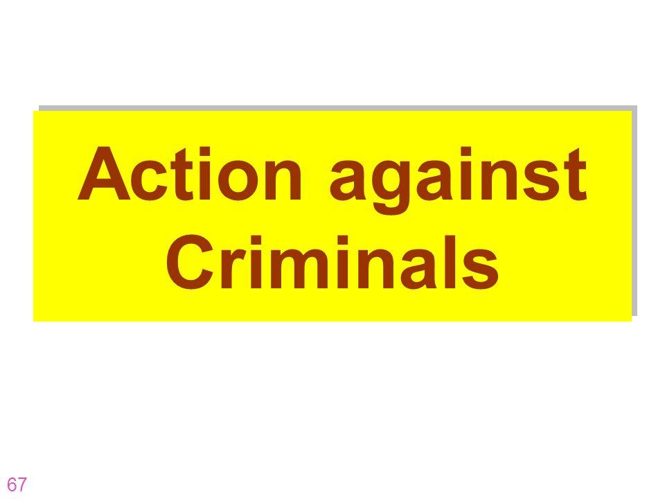 67 Action against Criminals