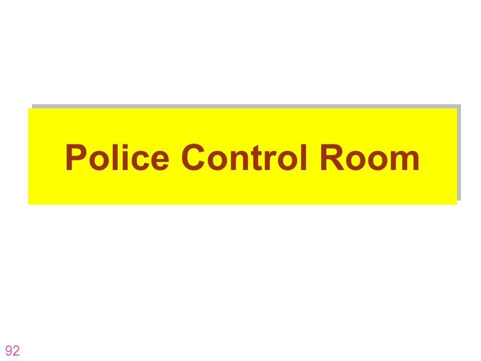 92 Police Control Room