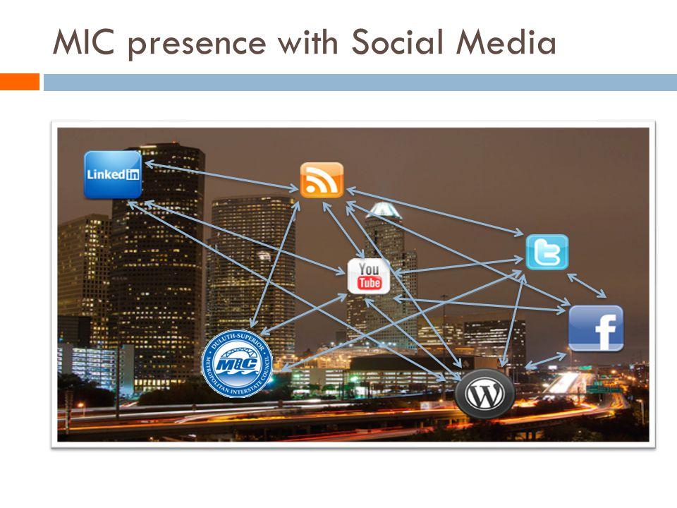 MIC presence with Social Media