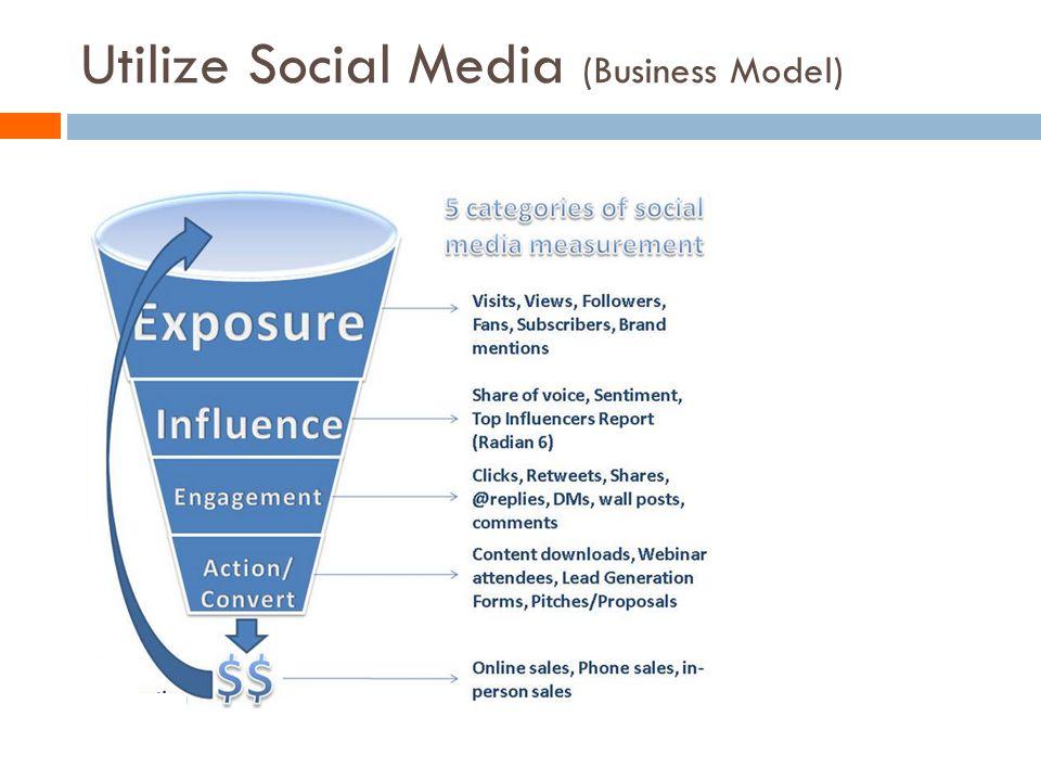 Utilize Social Media (Business Model)