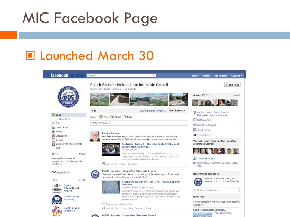 MIC Facebook Page Launched March 30