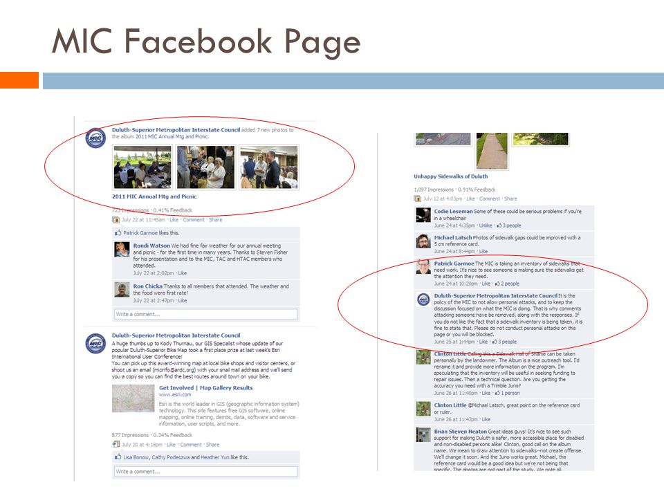 MIC Facebook Page