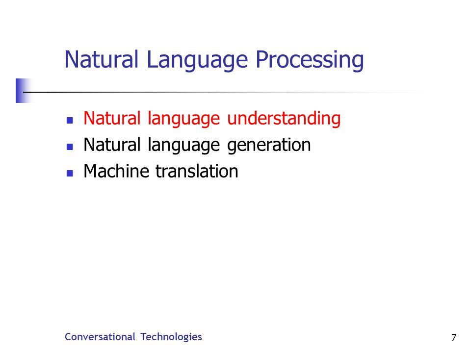 Conversational Technologies 48 EMMA Example (3) Application Semantics philadelphia boston vegetarian